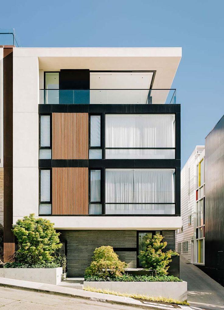 Me encanta la combinacion fe colores y texturas. blanco, madera, concrete…