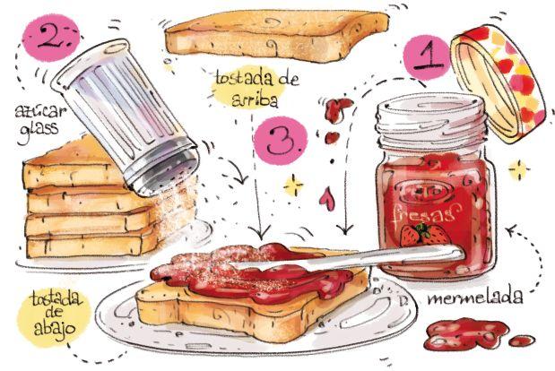 Cartoon Cooking: Aquella Tostada de Mermelada..extraños gustos, a causa de pelis..
