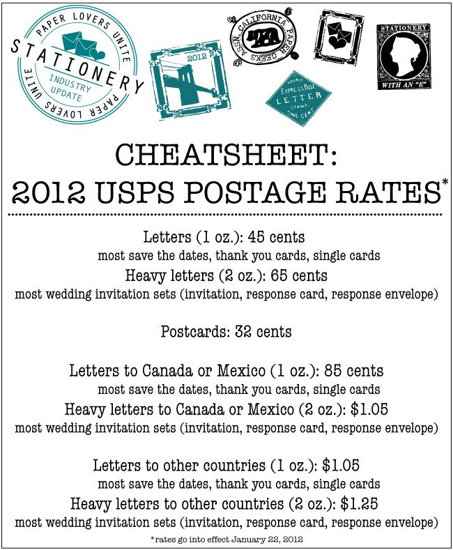 2012 wedding invitation postage rate sheet courtesy delphine