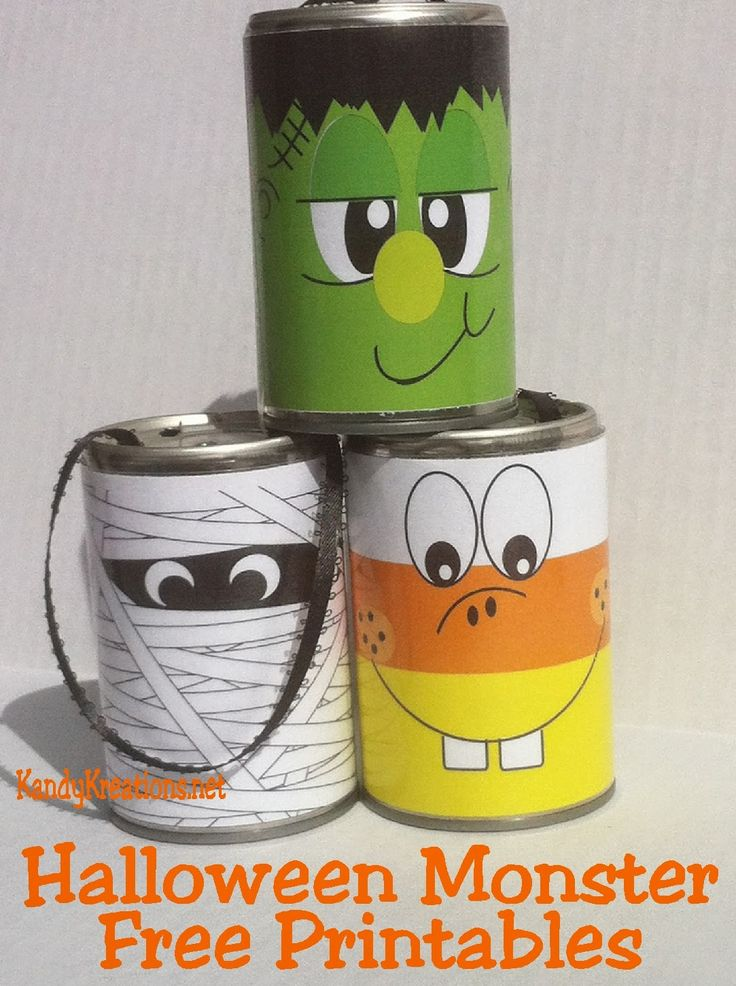easy halloween decorations free printables for tin can crafts
