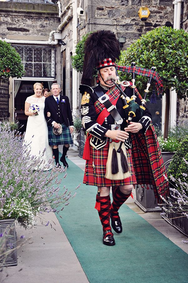 Scottish wedding. Have to include the bagpipes!