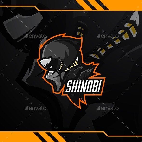 Shinobi Esport Logo Template Vector Logo Logo Templates Portfolio Logo