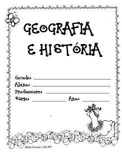Capas de caderno prontas para imprimir - capas de Matemática, Português, Geografia, História e muitas outras capinhas para caderno de aula e casa - ESPAÇO EDUCAR
