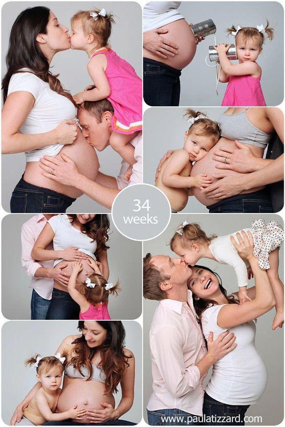 Fotos para registrar a gravidez