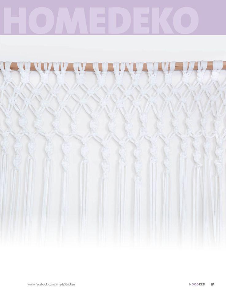 Textilgarn Hoooked Zpagetti Makramme-Technik (Vorhang) http://www.bpa-sportpresse.de/fantastische-haekel-und-strick-ideen-hooked-heft-05-2013.html