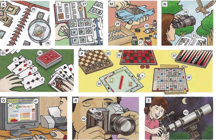 Hobbies crafts and games vocabulary PDF