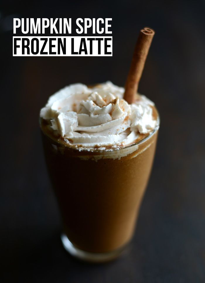 With just 5 whole ingredients you can make yourself a pumpkin spice frozen latte that's paleo-friendly and vegan, not to mention packed with vitamins!