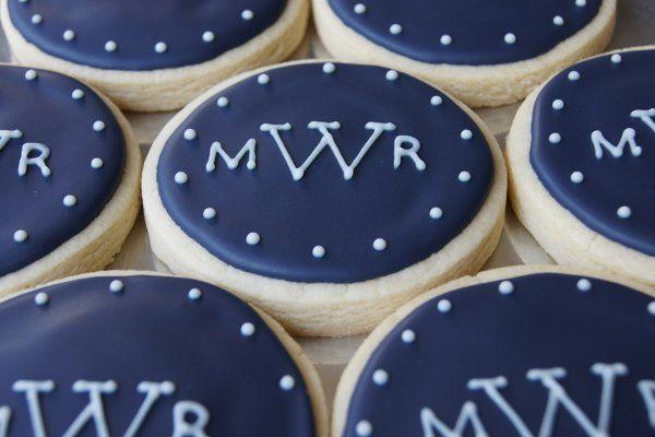 Monogrammed cookies for wedding shower!