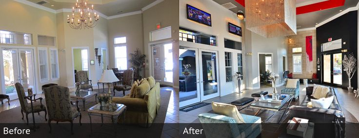 Check out before and after photos from updated amenities at apartments in Uptown Dallas!