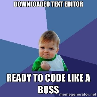 success kid...just made this for our text editors post