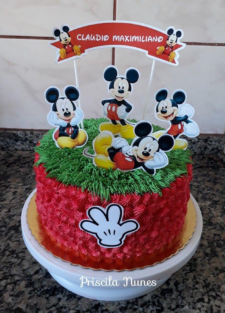 Bolo De Chantininho Mickey Com Imagens Bolo De Chantininho