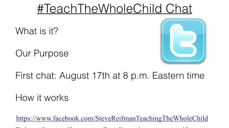 Introducing #TeachTheWholeChild Chat, a new free professional development opportunity for teachers in grades K-8.