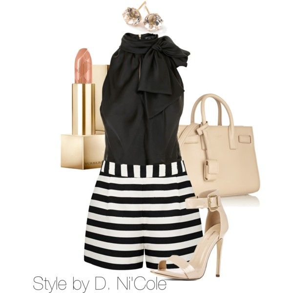 Untitled #2282 by stylebydnicole on Polyvore featuring Balmain, Forever New, Yves Saint Laurent, Ippolita and Burberry