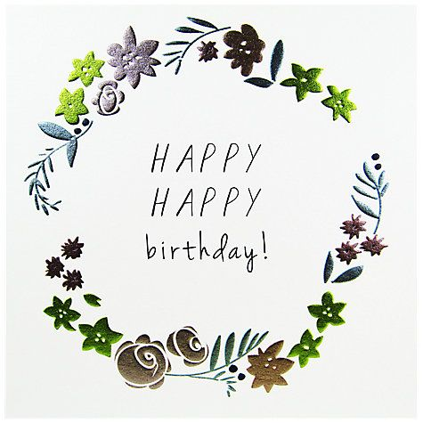 Buy Belly Button Designs Happy Happy Birthday Card Online at johnlewis.com