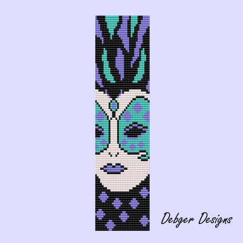Mardi Gras - Loom Bracelet Cuff Pattern (SAVING buy 2 - 3rd free )