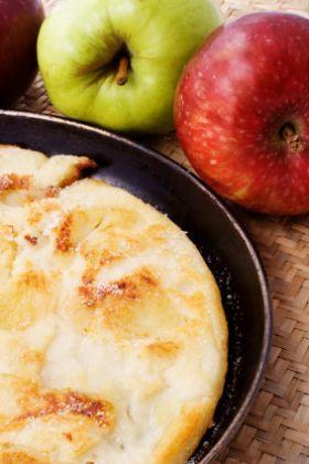 Karamelisierter Apfelpfannkuchen