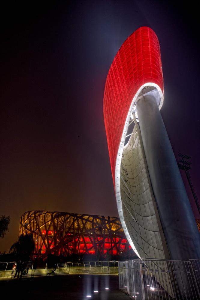 Estadio olímpico en Pekín....