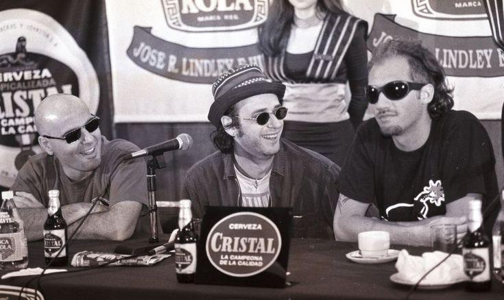 Gustavo Cerati, Charly Alberti y Zeta Bosio se mostraron contentos por haber retornado al Perú - 1995 (Archivo El Comercio)