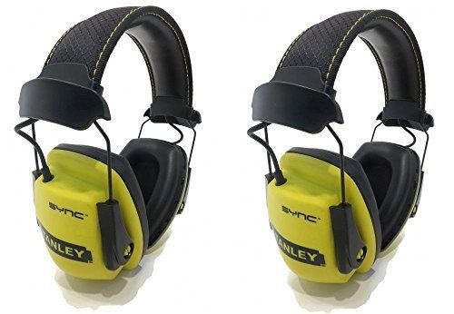 (2) Stanley SYNC MP3 Noise Hearing Protection Earmuffs Headphones Ear Defender by The ROP Shop