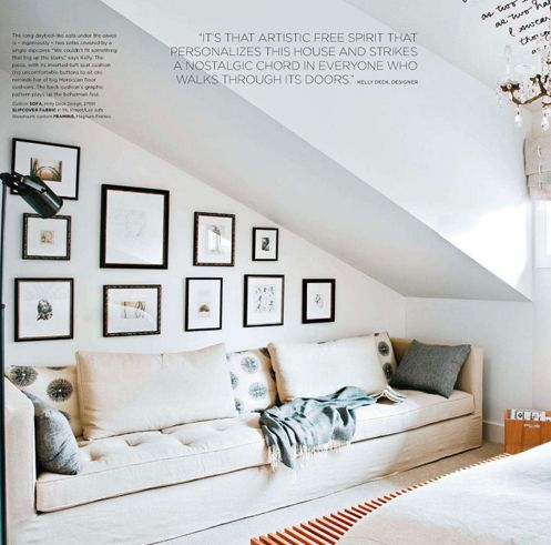 small couch for bedroom sloped ceiling