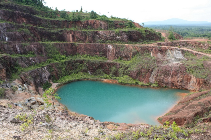 BHP Lake at old tin mining in East Belitong