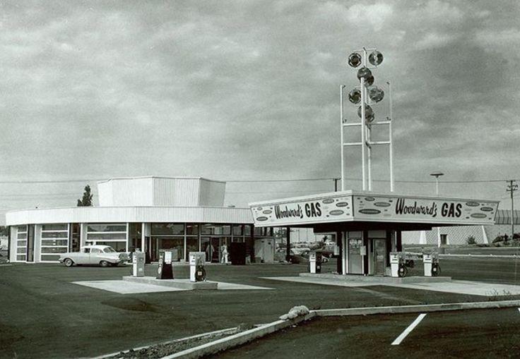 Woodward's gas bar, Mayfair Shopping Center, Victoria, B.C.  1964