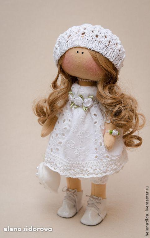 Купить Angel - белый, ангел, пупс, кукла ручной работы, кукла, текстильная кукла, ангелок