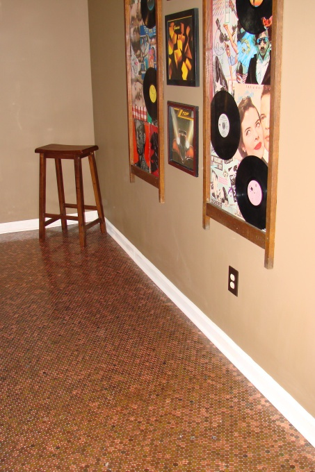 1000 images about album cover decor on pinterest vinyls for How to make a penny wall