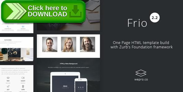 [ThemeForest]Free nulled download Frio One Page Zurb Foundation Template from http://zippyfile.download/f.php?id=13051 Tags: agency, clean, css3, foundation 6, html5, modern, one page, parallax, responsive, retina, video background, zurb, zurb foundation