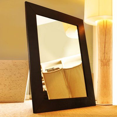 Serge De Troyer Collection Full Length Mirror Finish: Hair-on-Hide Black & White