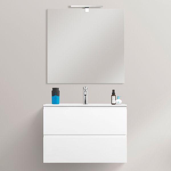 Mobile Bagno Fire2 70x35 5 Ultraslim Sospeso Moderno Con Specchio Disponibile Bianco O Antracite Salvaspazio Bagno Arredamento Salvaspazio E Bagno