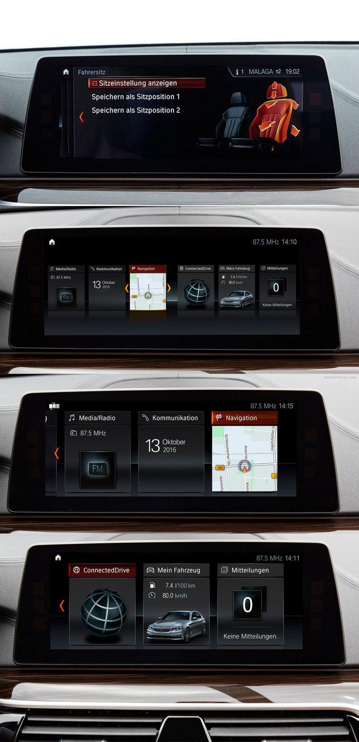 BMW Series5 2017 Central Display UX / UI Design