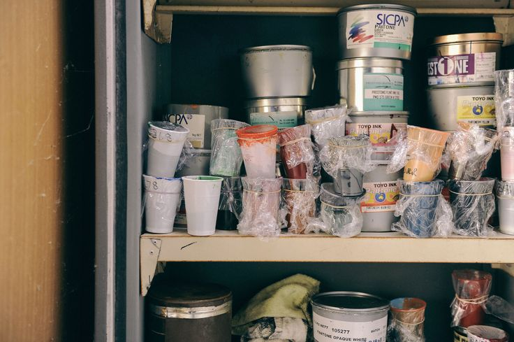 Ink storage in fire proof cabinet.