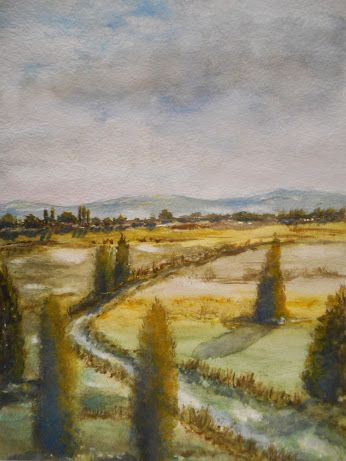 Weites Land  - in Aquarell