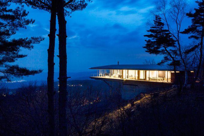 *캔틸레버 하우스 자연으로 비상하다 [ kidosaki architects studio ] cantilevers house in yatsugatake mountains :: 5osA: [오사]