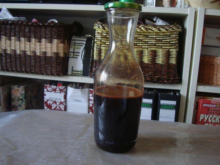 кора дуба 75 гр, вода-1,5 литр , сода -1 стол ложка.варить на медленном огне 2 часа...выход после процеживания- 600мл