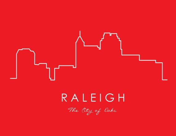 Raleigh City Skyline Print by MarkandErika on Etsy, $18.00