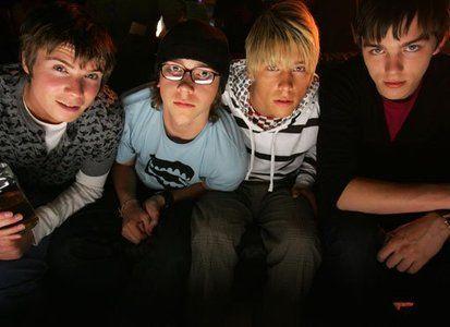 Chris, Sid, Maxxie, Tony - Skins - the first generation