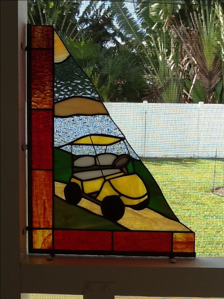 16 Best Stained Glass Golf Sports Images On Pinterest