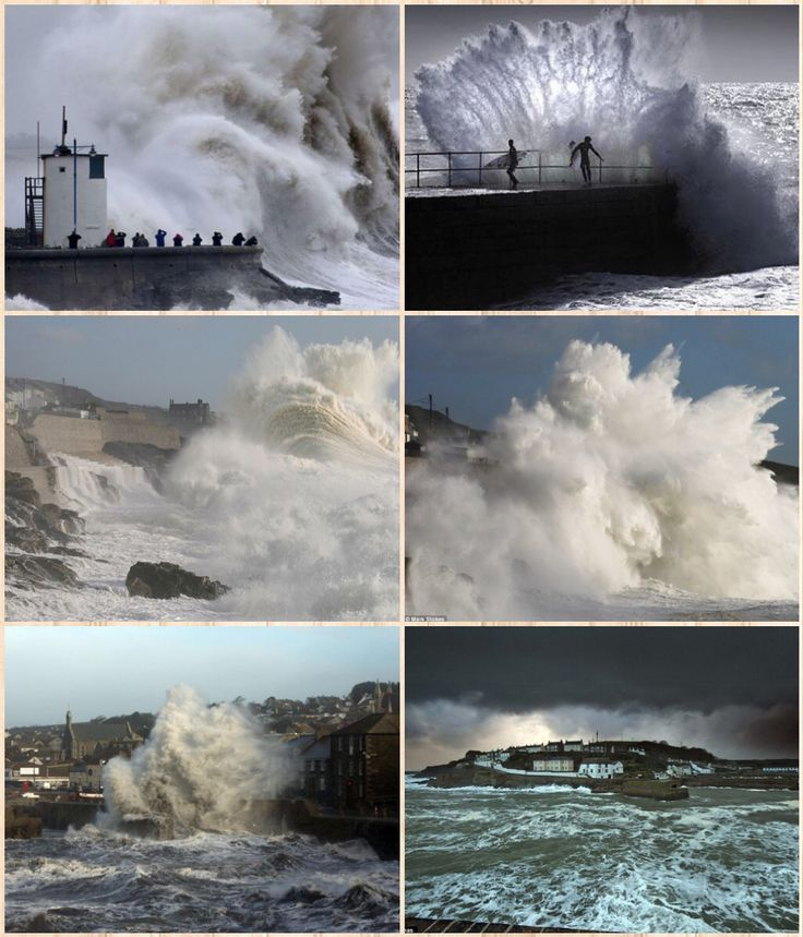 More storm images of Porthleven Cornwall. Cornwall