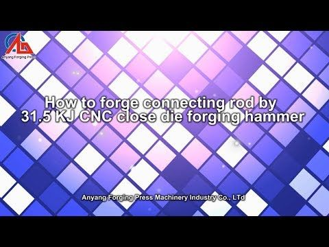 Audi auto parts forged by 50 KJ CNC close die forging hammer - YouTube