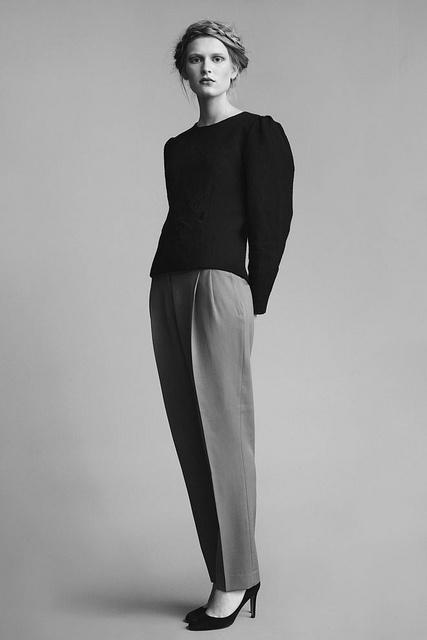 The braid, the shoulders, the pleats... I'd happily wear it all. Zofia Chylak via Miss Moss