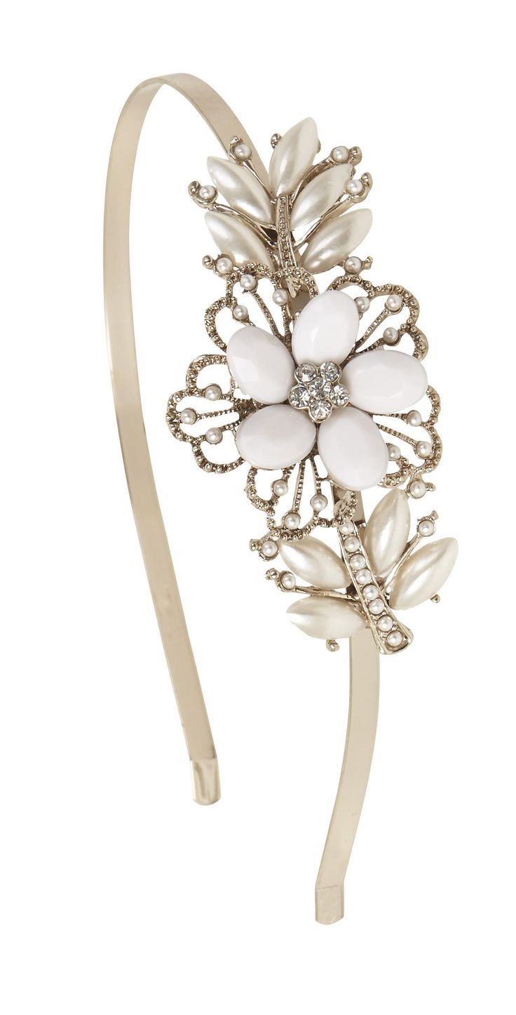 haarreifen perlenblume bijou brigitte online shop estilo pinterest hair band and pearls. Black Bedroom Furniture Sets. Home Design Ideas