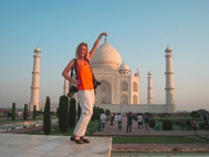 Copyright photo by Chester Simpson - Me at the Taj Mahal in Agra - city of love