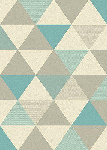 Marvelous Teppich modernes Design FOCUS TRIANGLES RUG BLUE cm x https