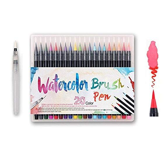 Watercolor Brush Pens Set Premium Soft Flexible Dual Tips