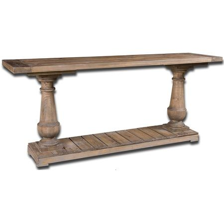 """Salvaged Solid Wood Rustic Console Table 71"""""""""""