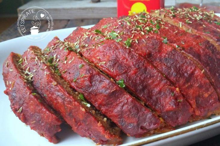 Slowcooker gehaktbrood met bbq saus