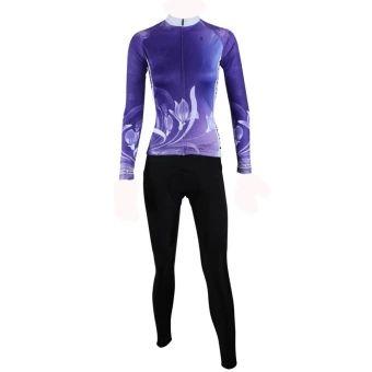 อย่าช้า  ILPALADINO Women Cycling Jersey and Pants Set Polyester Quick DryPockets Gel Padded Long Sleeve - intl  ราคาเพียง  1,374 บาท  เท่านั้น คุณสมบัติ มีดังนี้ Long Sleeve Polyester Jersey Gel Padded Cushion Lycra Pants 3 Pockets at Jersey backside Quick Dry, Breathable Full Zipper, Anti UV Quality Printing Race Fit design