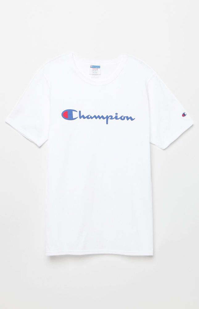 New Mens Champion White Heritage Signature Chest Logo Short Sleeve T-Shirt  Large  Champion  BasicTee 328fc2038d9